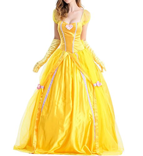 (Uniarmoire Belle Adult Costume Beauty Princess Fairytale Adult XL)