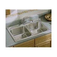 Sterling 11400-4-NA Southhaven 33-inch by 22-inch Top-mount Double Equal Bowl Kitchen Sink, Stainless Steel