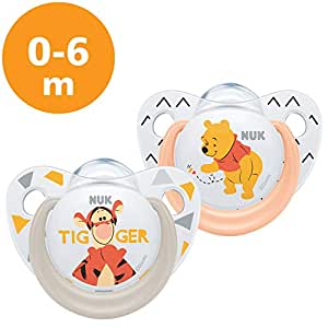 NUK Winnie The Pooh - Set de 2 chupetes Talla:0 a 6 meses ...