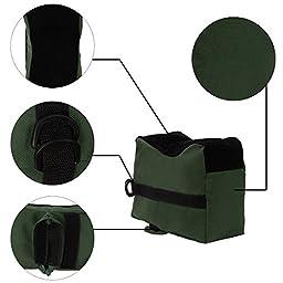 Shootmy Tactical Rest Bag Set Front and Rear Bag Combo-Unfilled, Tackdriver Rest Bag, Deluxe, Universal, Color Green