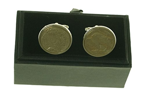 Twelve Gauge Designs Buffalo Nickel Cuff Links