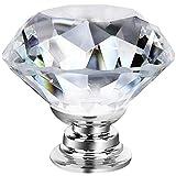 GoodtoU 25 Pack Dresser Crystal Knobs 30MM Glass