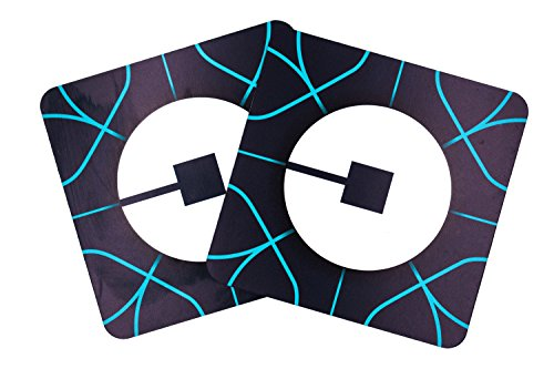2 - Pack. 5 x 5 - Uber App Style Car Magnet. Highly Durable; Weatherproof Car Magnet - Sign for Uber, Lyft, and Taxi Drivers - (Not A Sticker) Satisfaction Guranteed