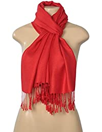 Elegant Pashmina Silk Blend Soft Wrap Scarf Shawl - Solid Colors (Free Gift Merchant Only)