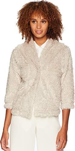 Dylan by True Grit Women's Lite Cashmere Soft Fur Crop Jacket Natural Medium