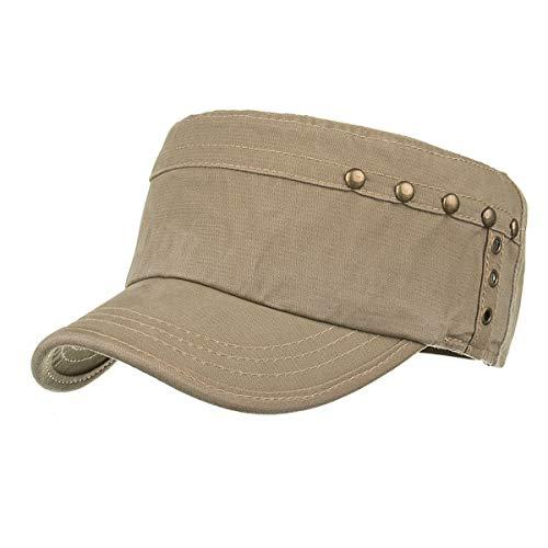 Sombreros GLLH sombrillas al Gorra Sombrero Plano E Hombres E Militar qin Aire Informal Sombrero hat Libre para para qf1PaqHn