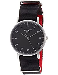 Everytime T109.410.17.077.00 Black/Black Nylon Analog Quartz Unisex Watch