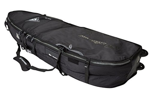 Creatures of Leisure Universal Quad Wheely Surfboard Bag Black Charcoal 6ft 7in by Creatures of Leisure