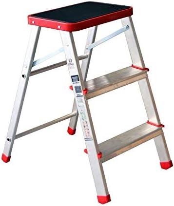 Escalera plegable de aluminio de 3 peldaños.: Amazon.es: Bricolaje y herramientas
