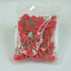 Plastic Headed Diaper Pins - 100 Pack (Orange) All Together Enterprises