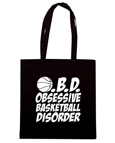 OBSESSIVE BASKETBALL OBD WES0972 Nera Speed Shopper DISORDER Borsa Shirt xq7wfS4