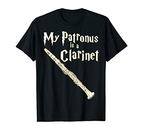 My Patronus Is A Clarinet Harry Fan Clarinet Player Gift T-Shirt