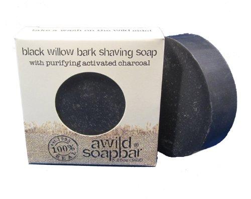 A Soap Bar sauvage - Noir écorce savon de rasage Willow