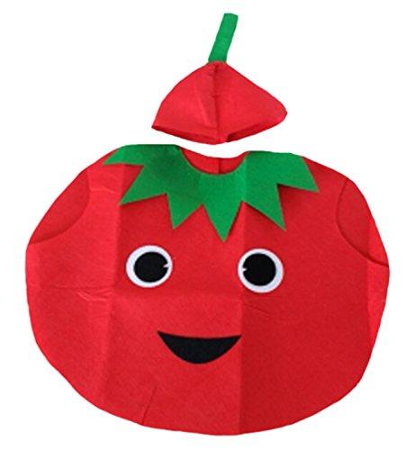 Petitebella Tomato Unisex Children Costume 3-7y (One Size)