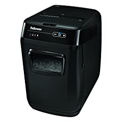 "The Fellowes AutoMax 130C Cross-Cut Shredder can automatically shred up to 130 sheets of paper with the touch of a button or manually shred up to 8 sheets per pass into 397 (5/32"" x 1-1/2"") cross-cut particles providing enhanced protection of..."