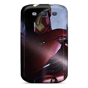 New Starting Case Cover Galaxy S3 Protective Case Iron Man Comic Hero