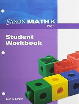 math worksheet : saxon math k workbook grade k part 1 saxon publishers  : Saxon Math Kindergarten Worksheets