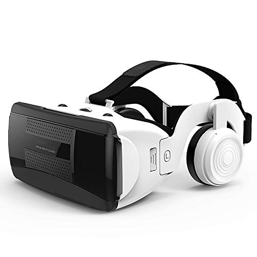VR Headsets, VR Glasses Unisex 3D Game Glasses Head-Mounted HiFi Headset Eyewear Virtual Reality Portable Multifunction Blue Light Glasses ()