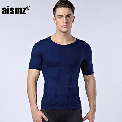 127f1f028f Petsdelite® Aismz Men Slimming Shaper Posture Male Belly Abdomen for  Corrector Compression Bodybuilding Fat Burn Chest Tummy Shirt Corset   Az-Ny094 White