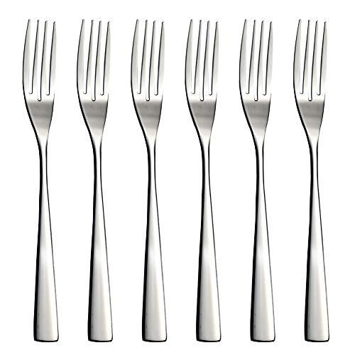 YFWOOD 6-Piece Forks, Salad Fork, 9.1Inch Stainless Steel Dinner Forks Long Serving Forks Buffet Forks Dessert Forks…