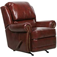 Regency ll Tri-tone Burgundy Leather Rocker Recliner by Barcalounger