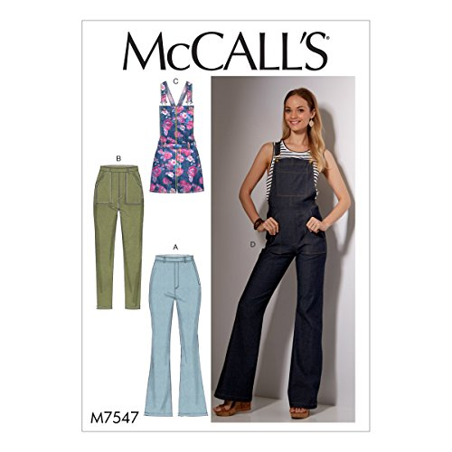 - McCall's Patterns M7547A50 Misses Flared Overalls/Skinny Jeans and Shortalls