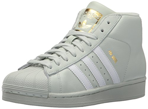 adidas Originals Boys' PRO Model J Running Shoe, Linen Green/White/Metallic Gold, 6 Medium US Big Kid
