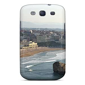 Hot Fashion NrSIfea5084JHKAh Design Case Cover For Galaxy S3 Protective Case (ilghthouse Overlooking Biarritz France)