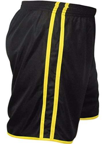 KIT 12 Calção Futebol Kanga Sport Modelo 2 Faixa Em Dry Fit