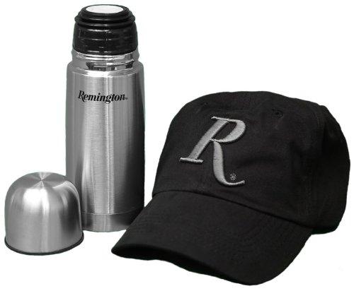 Remington New Cotton Twill Adjustable Cap & Stainless Steel Thermos Combo Set (Remington Ball Cap)