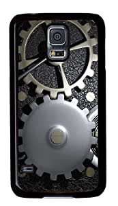 Gears In A Machine Custom Samsung Galaxy S5/Samsung S5 Case Cover Polycarbonate Black