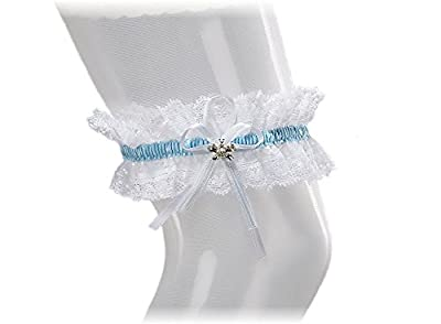 XL XXL Bridal PLUS SIZE Garter - SPARKLING Crystals in BUTTERFLY Shape - Something Blue