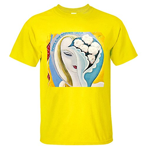 XTOTO Men's Derek And The Dominos Cool T-shirts yellow (Derek And The Dominoes T Shirt)