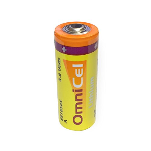 Omnicel ER18505 3.6V 3.8Ah Size A Lithium Button Top Battery Replaces Saft LS17500, Maxell ER17/50, Xeno XL-100F For use with Industrial PC, Computer RAM, CMOS Circuit memory backup power