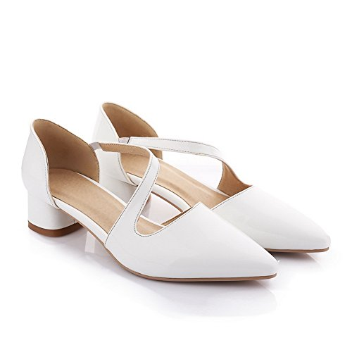 Empty 1TO9 Band Cow Elastic Leather Mule Womens White Sandals qqz7tUxTSw