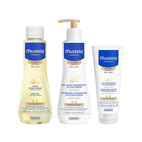 Mustela Bathtime Gift Set, Baby Skin Care Available for Normal, Dry, Sensitive, and Eczema Prone Skin, 1 Set