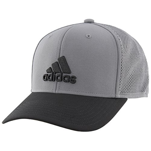 adidas Men's Adizero Scrimmage Stretch Fit Cap, Onix/Black, Large/X-Large