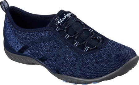 Skechers Women's Relaxed Fit Breathe Easy Fortune-Knit Slip-On,Navy,US 5 W by Skechers (Image #1)