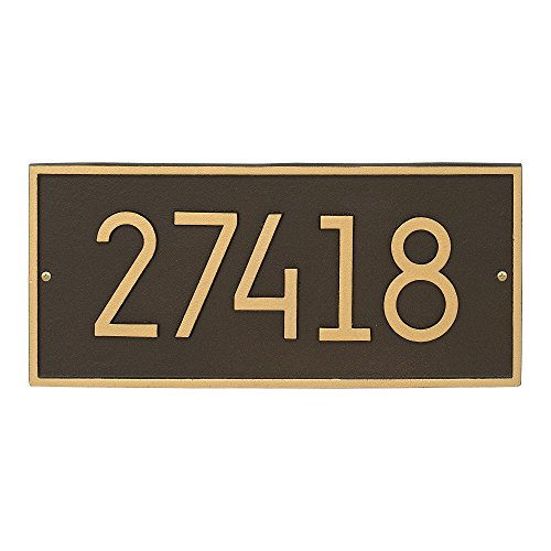 Whitehall Custom Hartford Rectangle Modern Address Plaque 16.25