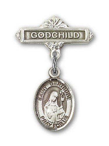 Icecarats Créatrice De Bijoux En Argent Sterling St. Gertrude De Charme Nivelles Broches Badge Filleul 1 X 5/8