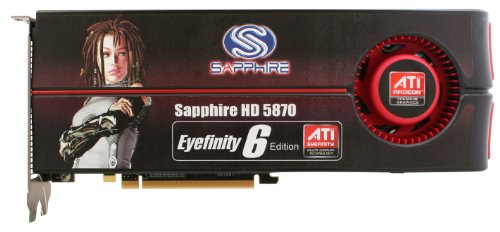 Sapphire Radeon HD 5870 2 GB DDR5 HEXAD MINI DP PCI-Express Graphics Card 100290SR