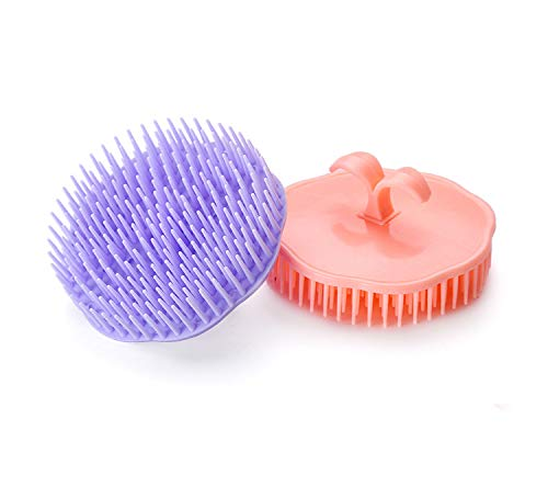 Hair Scalp Brush Dandruff Cleaning Brush Shower Scalp Shampoo Brush Scalp Massager Pack of 2
