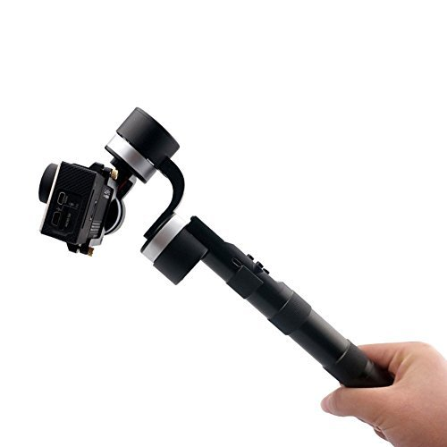 Zhiyun Z1-Pround 3-Axis High-Precision Handheld Steady Gimbal PTZ Camera Mount with Built-In Independent IMU Module Stabilizer Extra Power Charger for GoPro Hero 1/2/3/3+/4 - Silver/Black