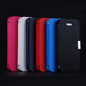 ModernGut Ultra Thin Newest Flip Leather Case for iphone 5 5G 5S 5C Protective Magnetic Button Skin Cover Top Quality