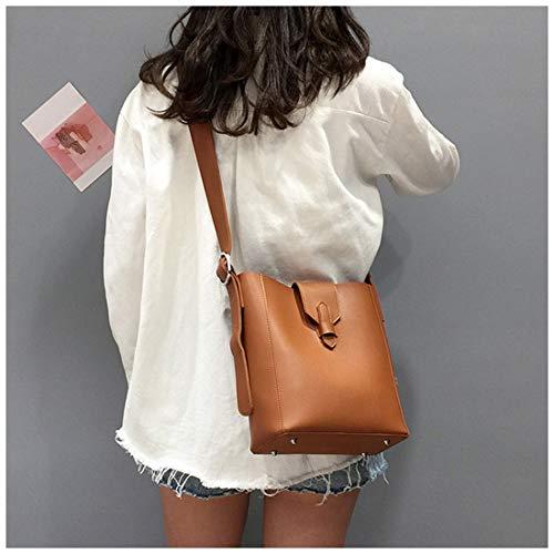 Bucket Gran Pu Brown Retro Kervinzhang Capacidad Para Colgado Caja Mujer Hombro Casual Bag W4nFnxq