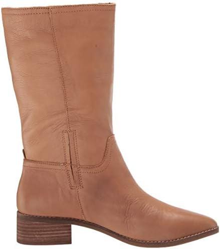 Lucky Brand Women's LK-LAERYS Mid Calf Boot, Latte, 5