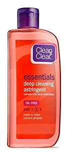 CLEAN & CLEAR Essentials Deep Cleaning Astringent 8 OZ - Buy Packs and SAVE (Pack of 4)