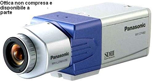 Cctv Panasonic (Panasonic CCTV Camera wv-cp480/g Super Dynamic III Day-Night Camera with ABF for 24 hours a Day Surveillance)