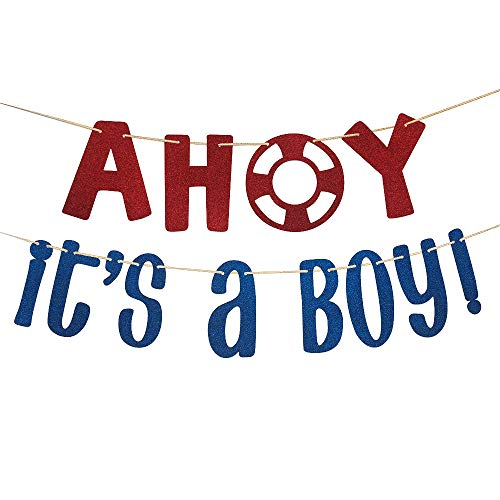 It's a Boy Banner Garlands Boy Baby Shower Birthday Party Decorations -