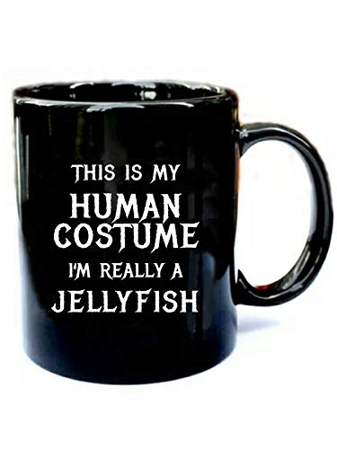 Jellyfish Halloween Costume - Funny Gift Black 11oz Ceramic Cozy Coffee Mug -
